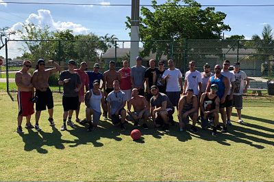 addiction treatment center alumni kickball
